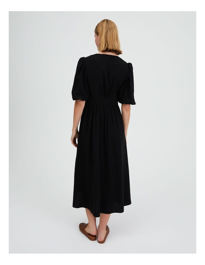 Puff Sleeve Button Through Dress image 3