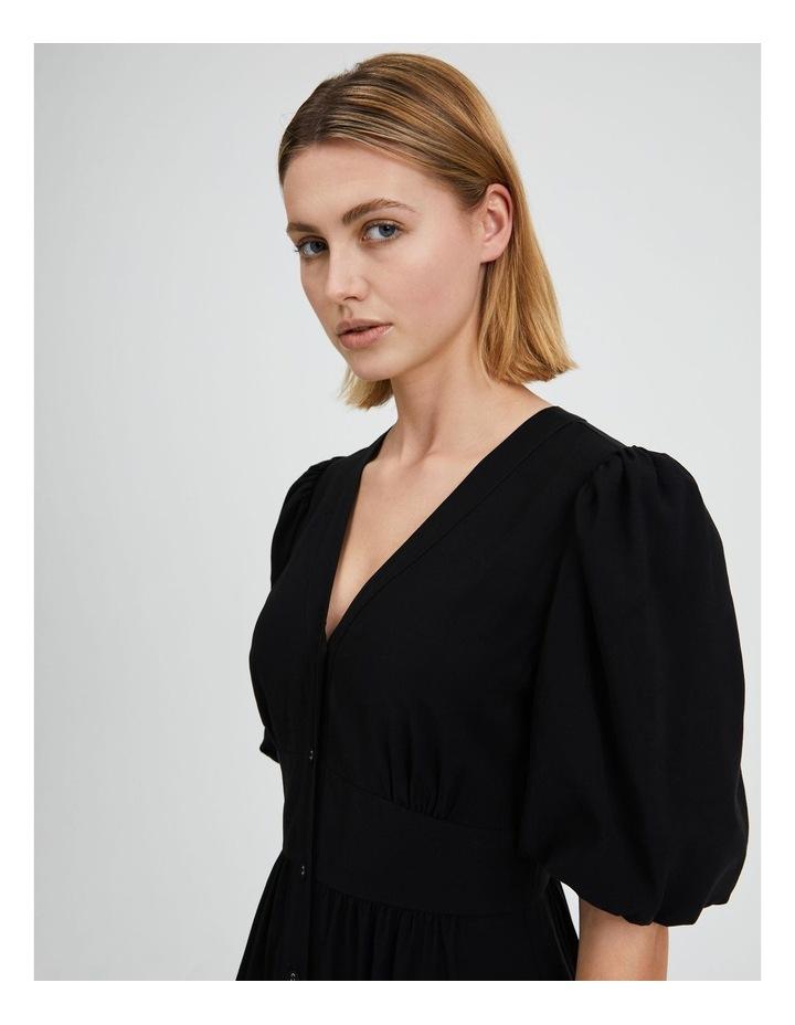 Puff Sleeve Button Through Dress image 4