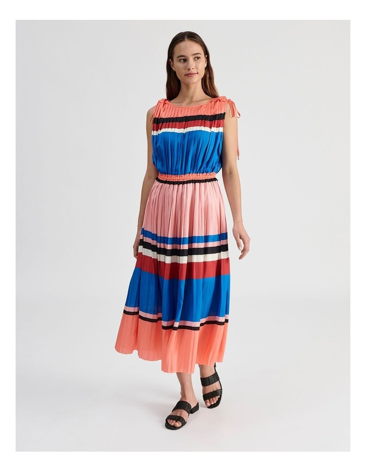 Shoulder Tie Pleat Dress image 1