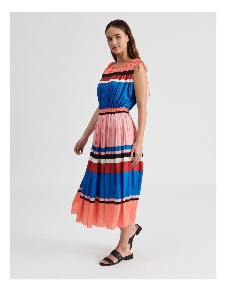Shoulder Tie Pleat Dress image 2
