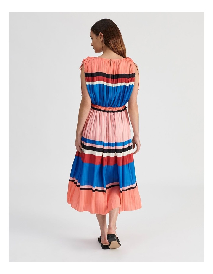 Shoulder Tie Pleat Dress image 3