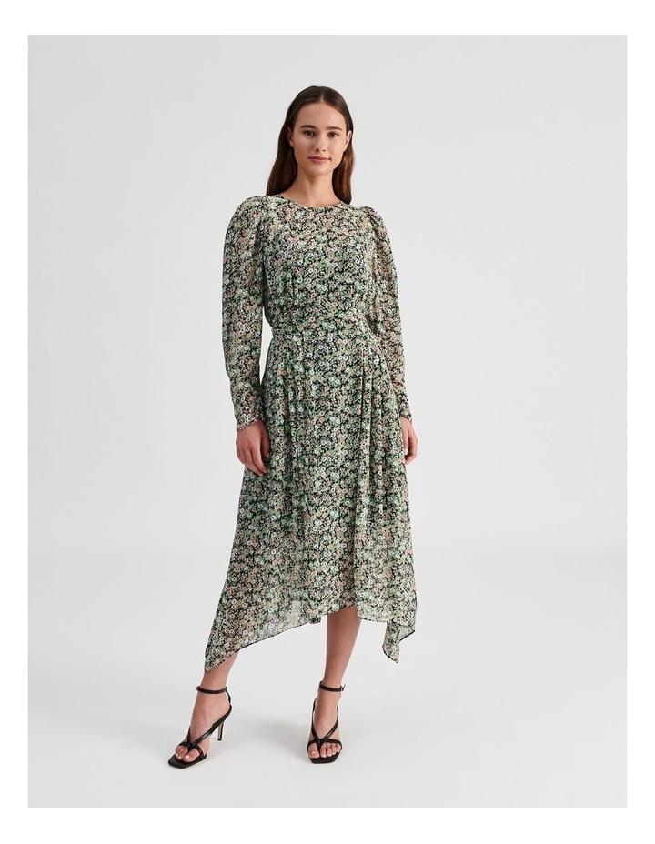 Hanky Hem Long Sleeve Dress Ditsy Print image 1