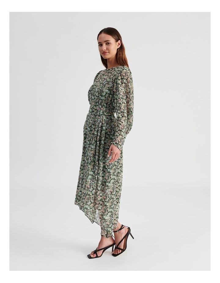 Hanky Hem Long Sleeve Dress Ditsy Print image 2