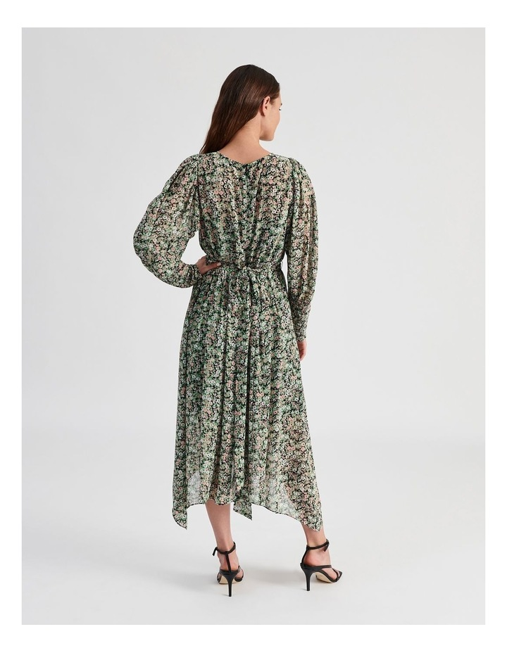 Hanky Hem Long Sleeve Dress Ditsy Print image 3