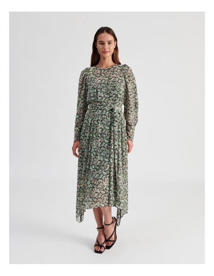 Hanky Hem Long Sleeve Dress Ditsy Print image 4