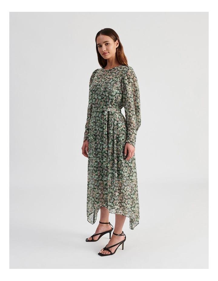 Hanky Hem Long Sleeve Dress Ditsy Print image 5