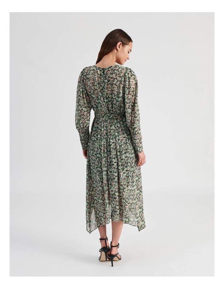 Hanky Hem Long Sleeve Dress Ditsy Print image 6