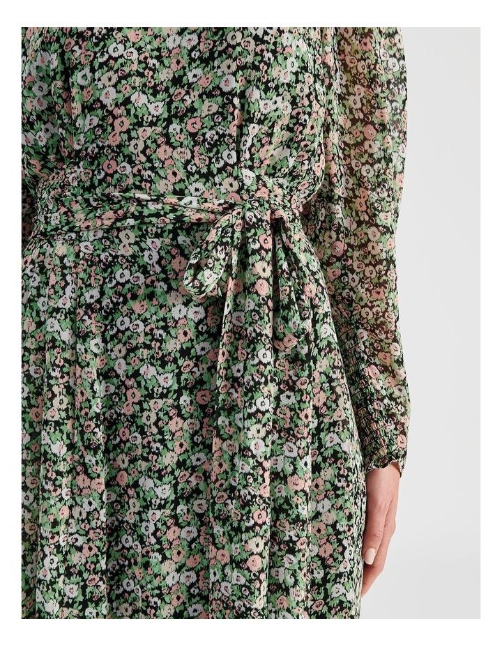 Hanky Hem Long Sleeve Dress Ditsy Print image 7