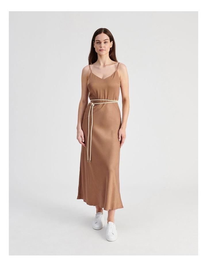 Slip Dress With Rope Tie in Bronze image 1