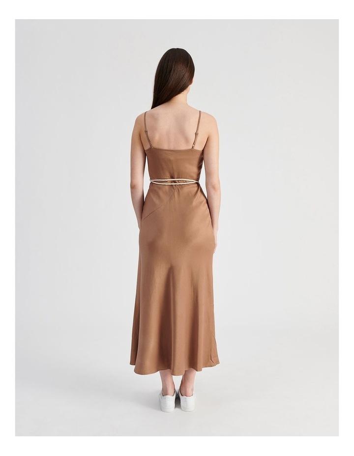Slip Dress With Rope Tie in Bronze image 3