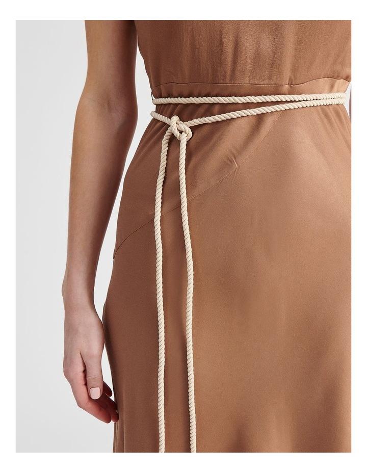 Slip Dress With Rope Tie in Bronze image 4