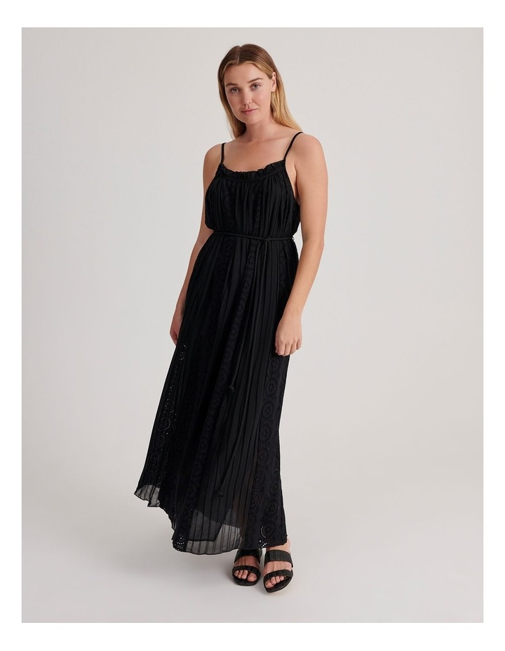 Broderie Panel Maxi Dress image 1