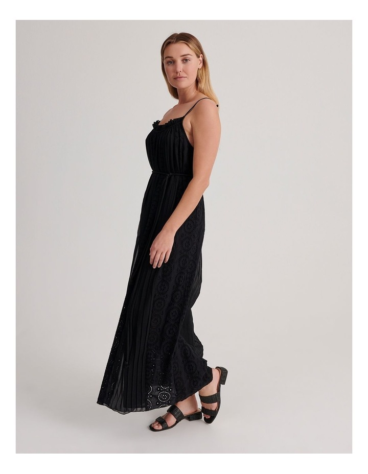 Broderie Panel Maxi Dress image 2