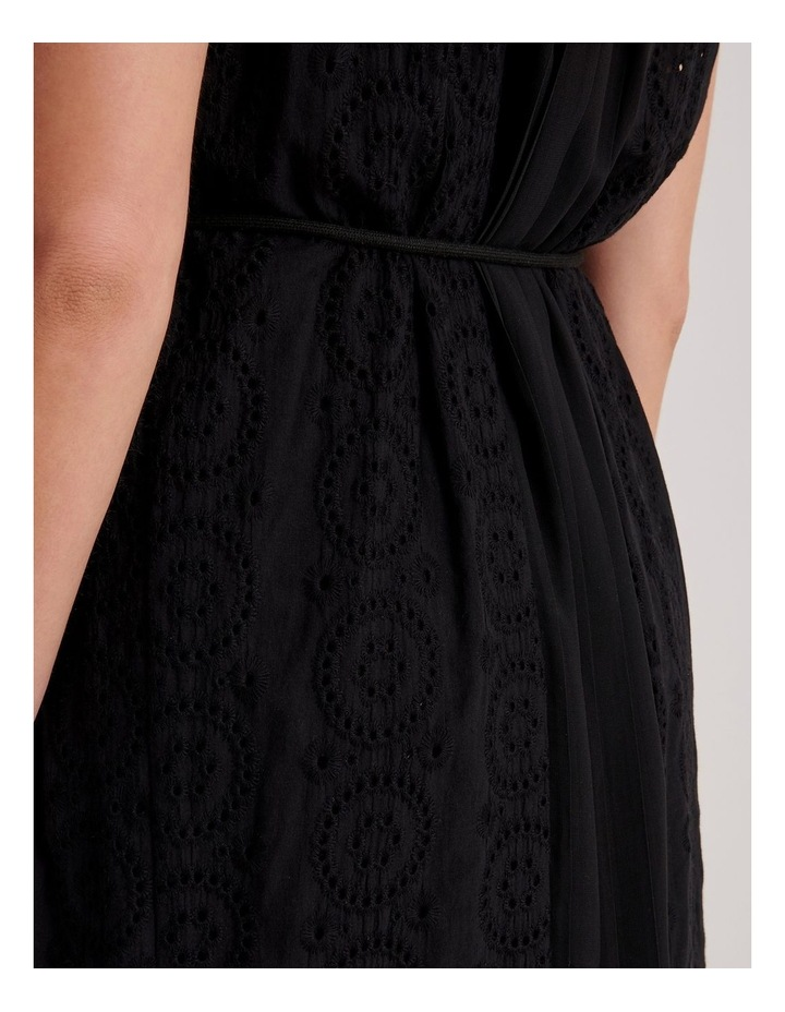 Broderie Panel Maxi Dress image 4