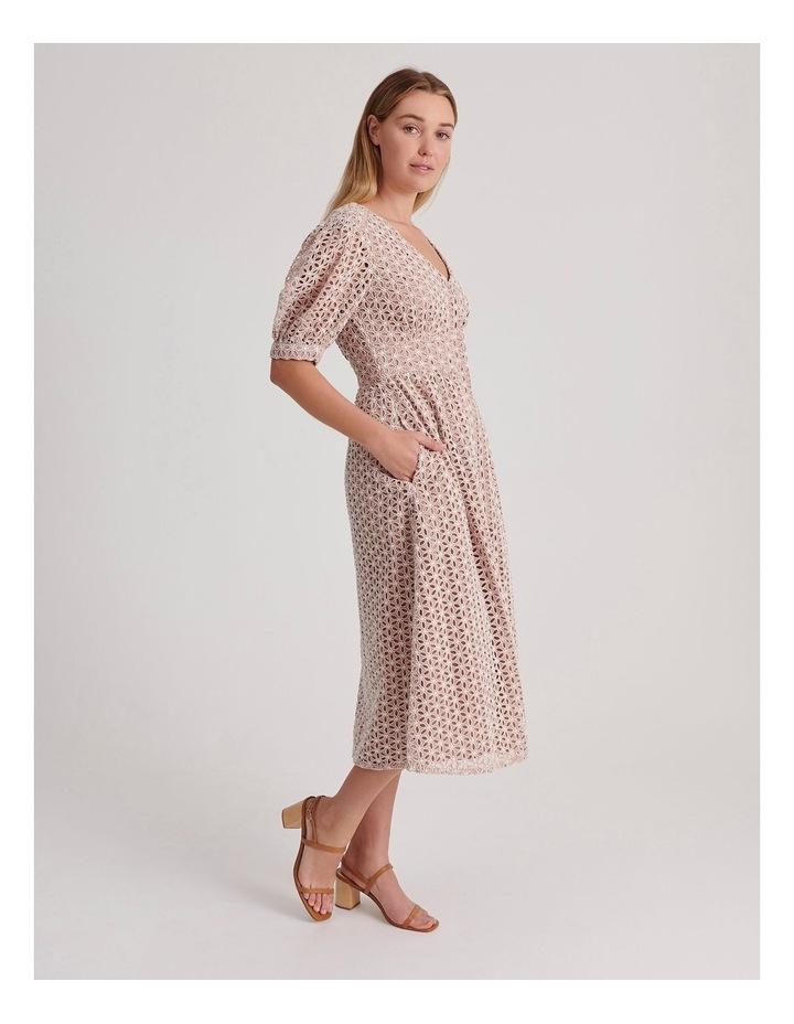 Short Puff Sleeve Broderie Dress image 2