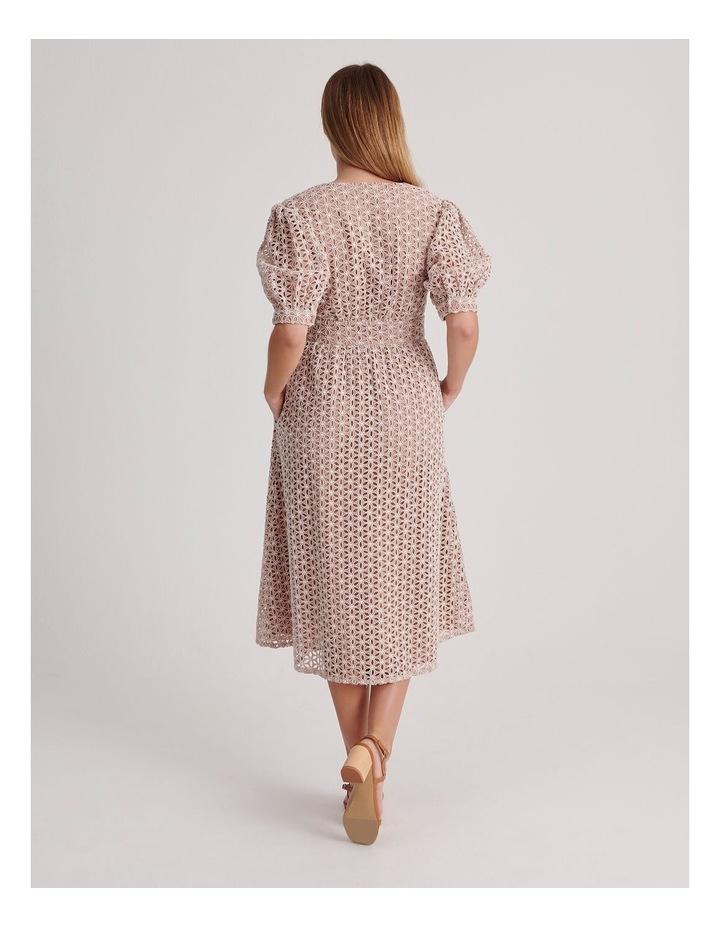 Short Puff Sleeve Broderie Dress image 3