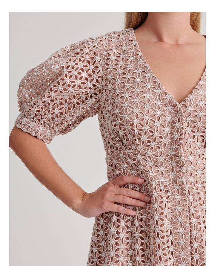Short Puff Sleeve Broderie Dress image 4