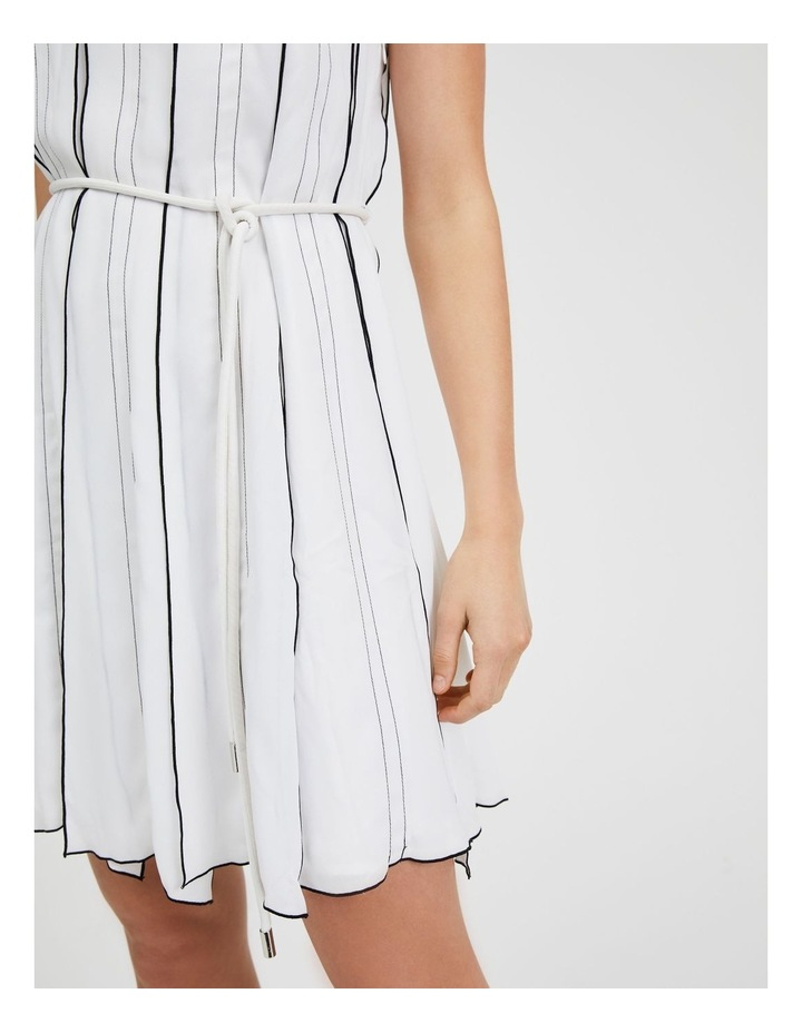 One Shoulder Panel Pleat Dress White image 5