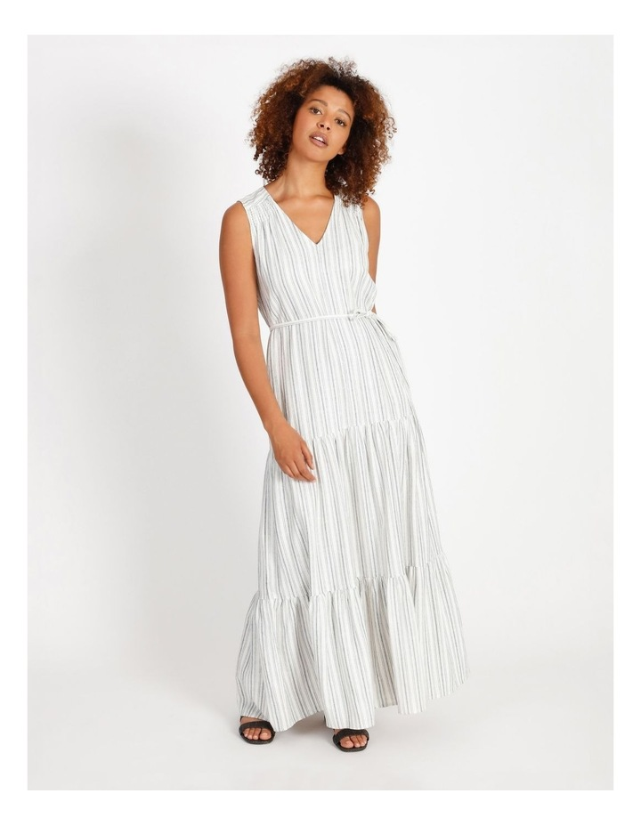 Striped Tiered Maxi Dress image 1