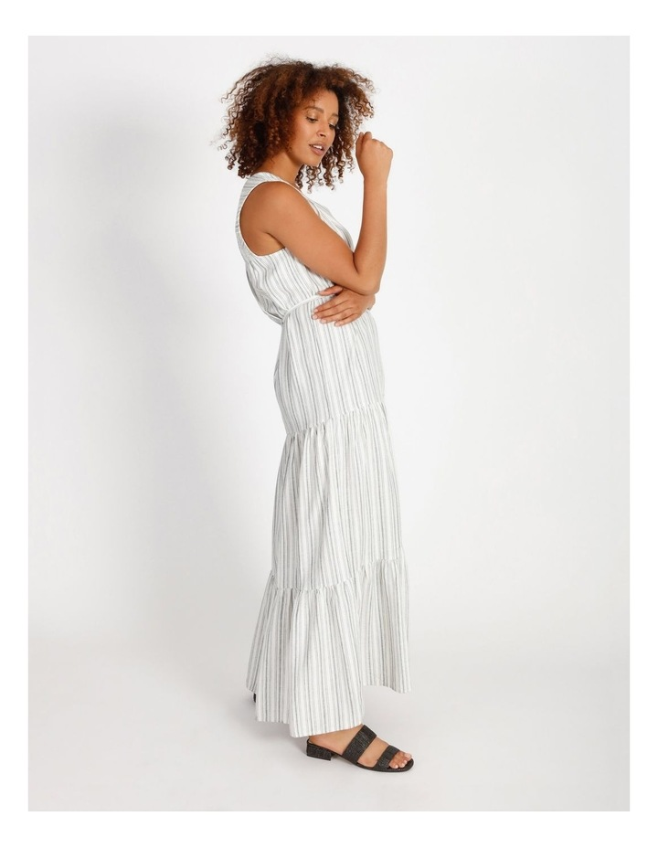 Striped Tiered Maxi Dress image 2