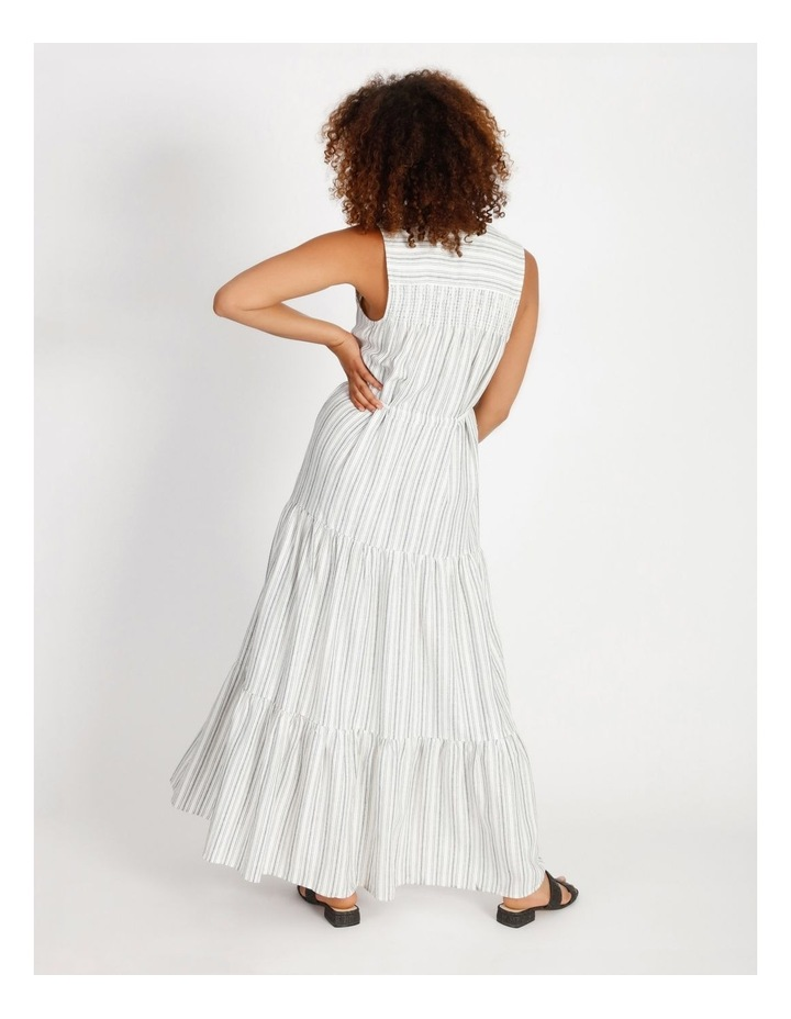 Striped Tiered Maxi Dress image 3