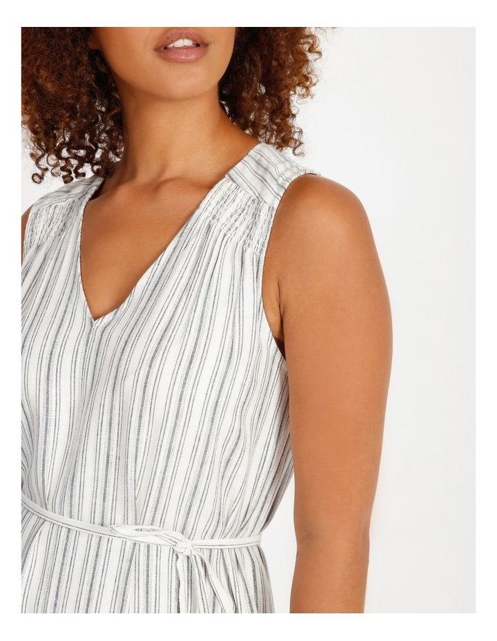 Striped Tiered Maxi Dress image 4
