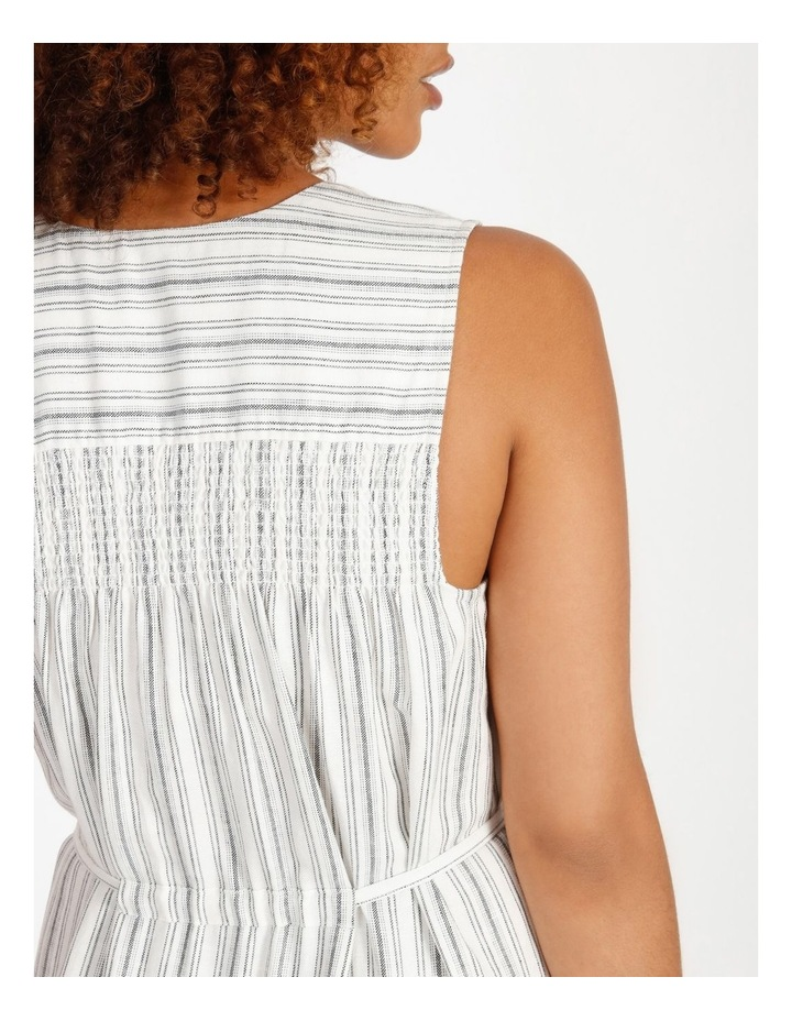 Striped Tiered Maxi Dress image 5