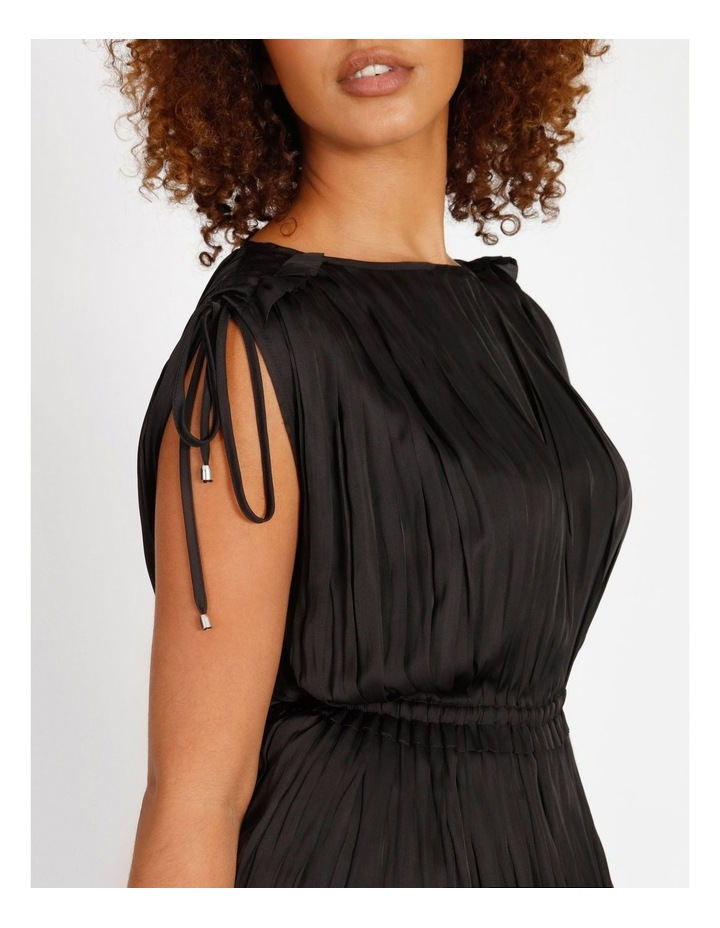 Shoulder Tie Pleat Dress image 4