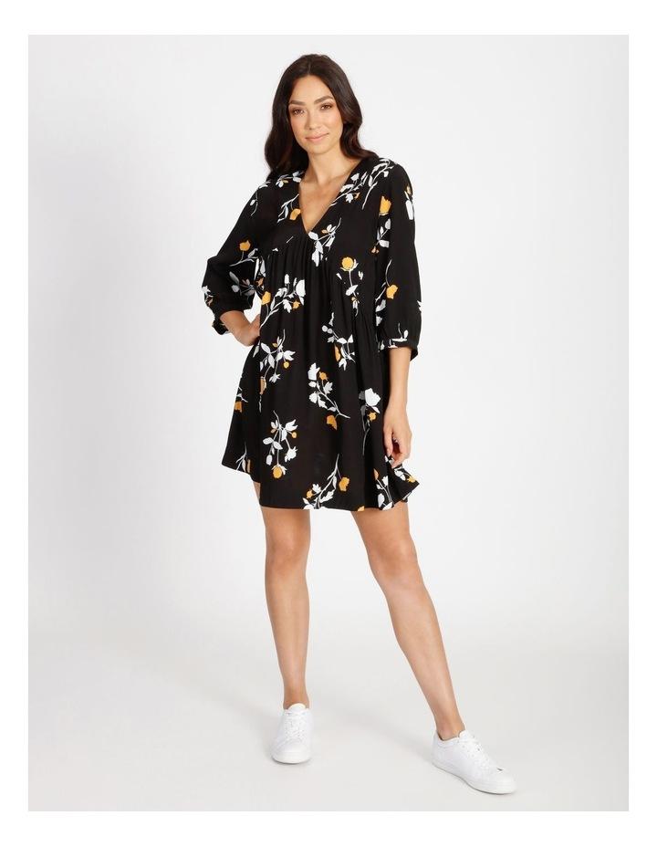 3/4 Sleeve Babydoll Dress image 1