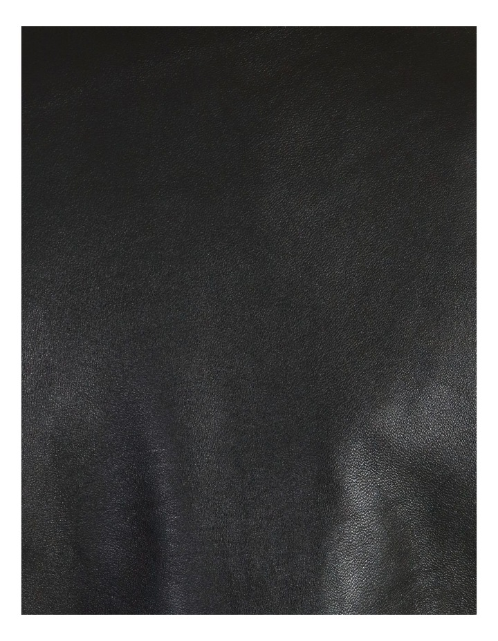 Black Leather Biker Jacket image 7