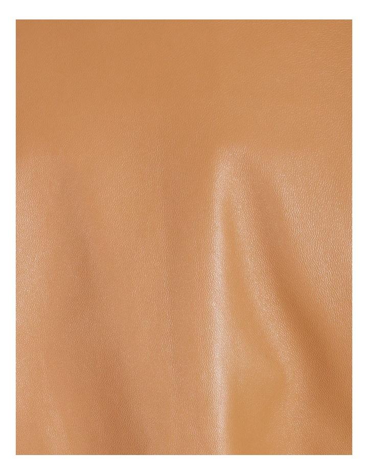Tan Leather Biker Jacket image 7