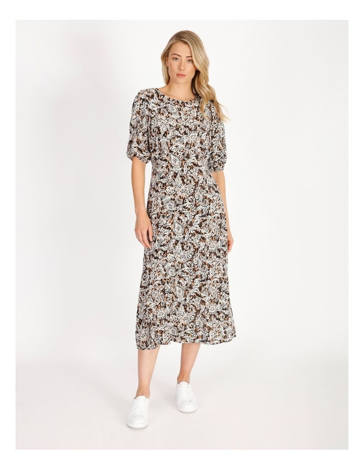 Printed Crepe Midi Dress image 1