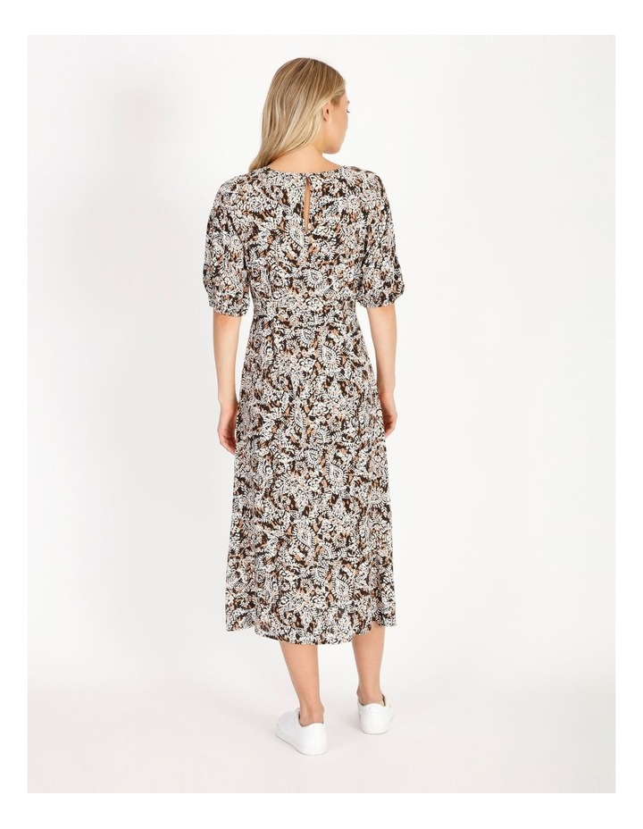 Printed Crepe Midi Dress image 3