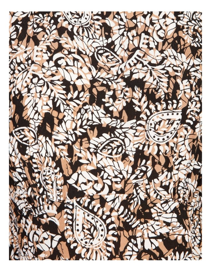 Printed Crepe Midi Dress image 5