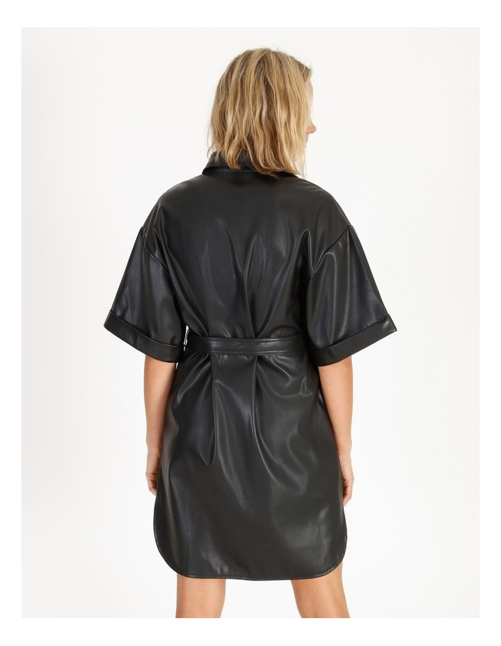 Faux Leather Shirt Dress image 2