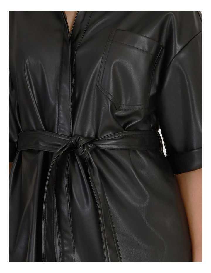 Faux Leather Shirt Dress image 3