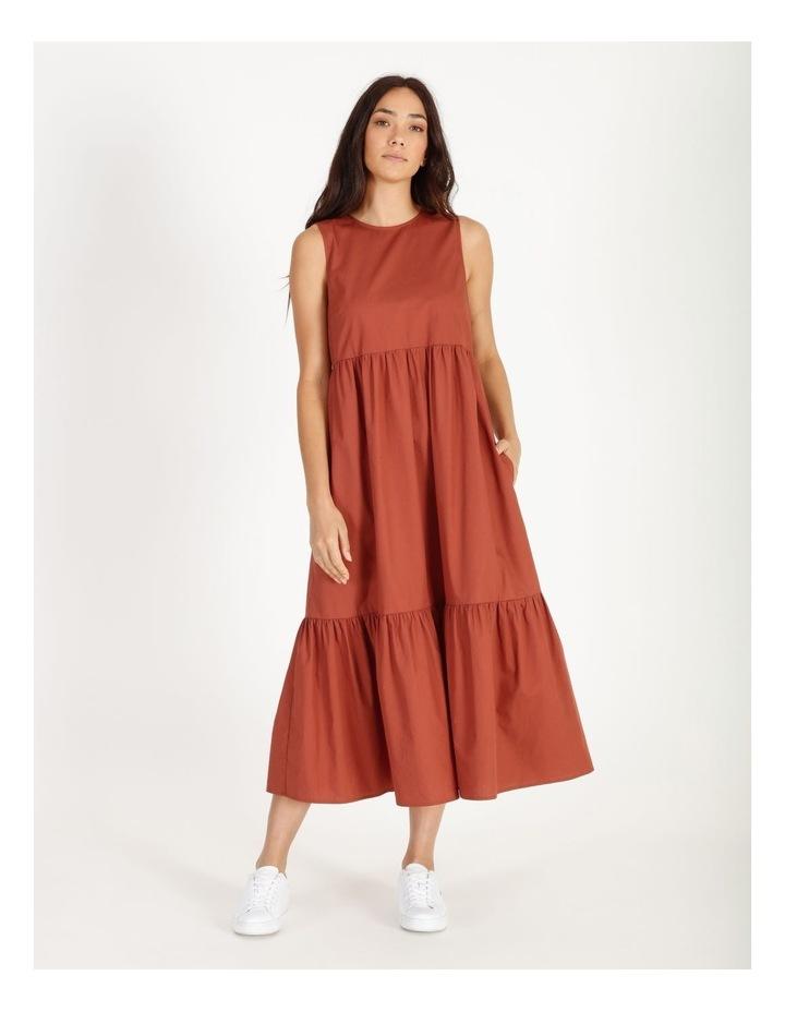 Organic Cotton Tiered Poplin Dress image 1