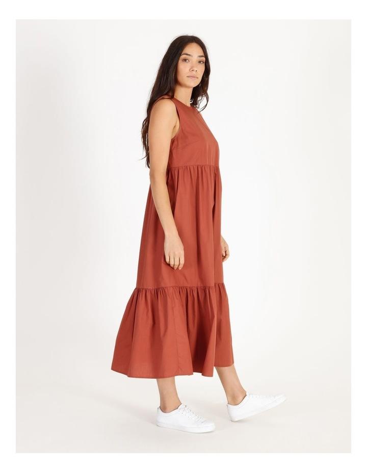 Organic Cotton Tiered Poplin Dress image 2
