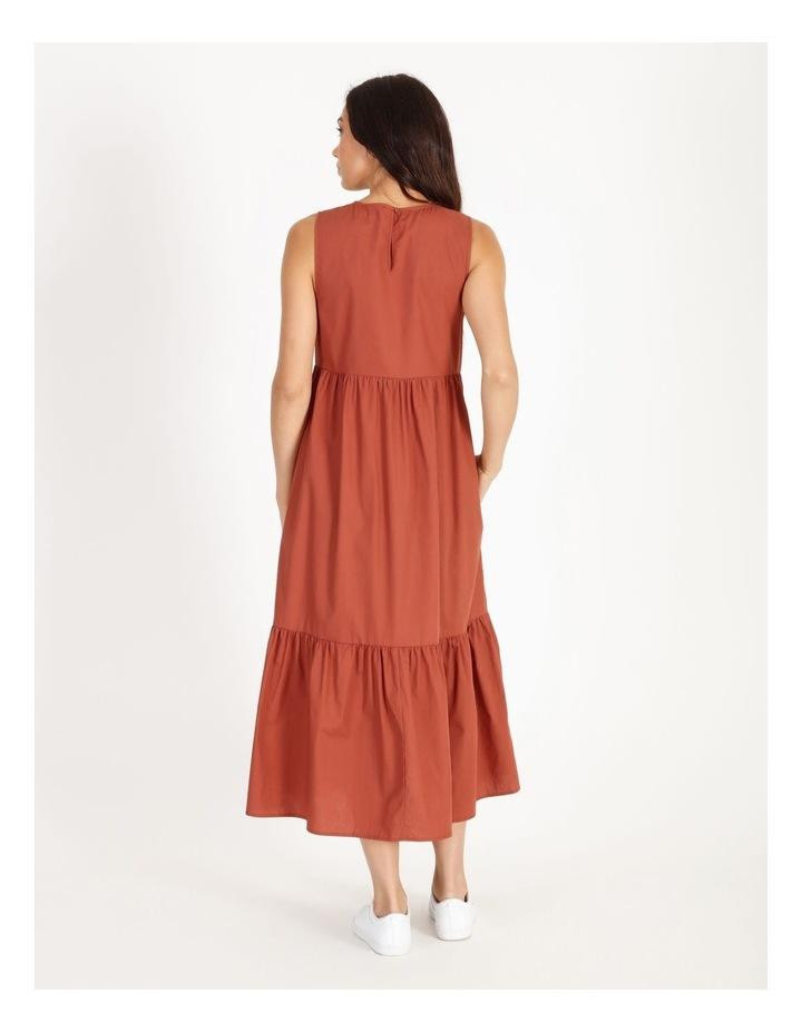 Organic Cotton Tiered Poplin Dress image 3