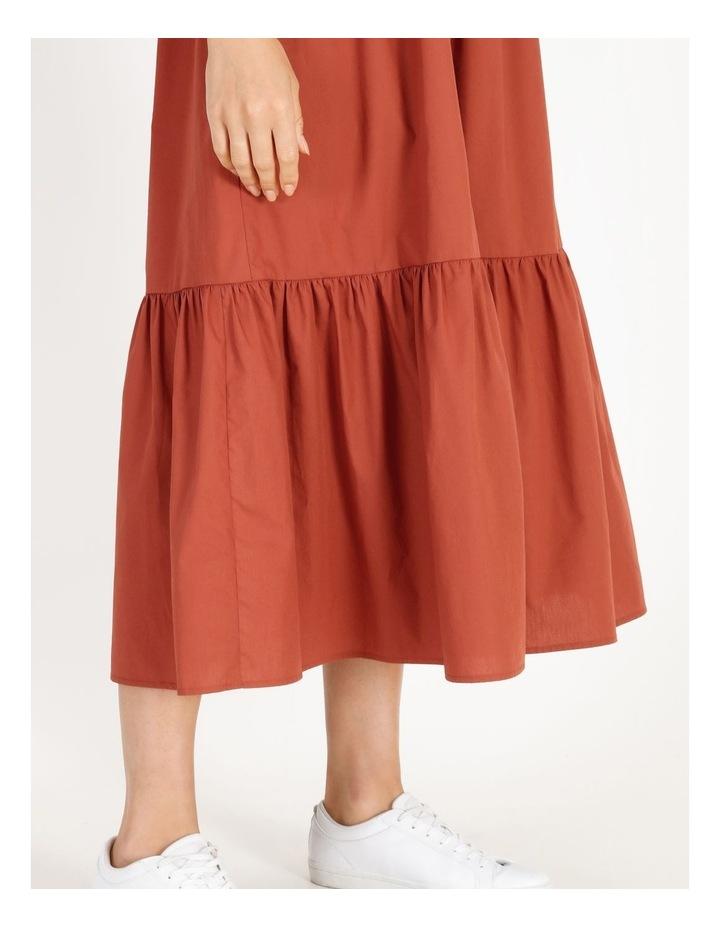 Organic Cotton Tiered Poplin Dress image 4