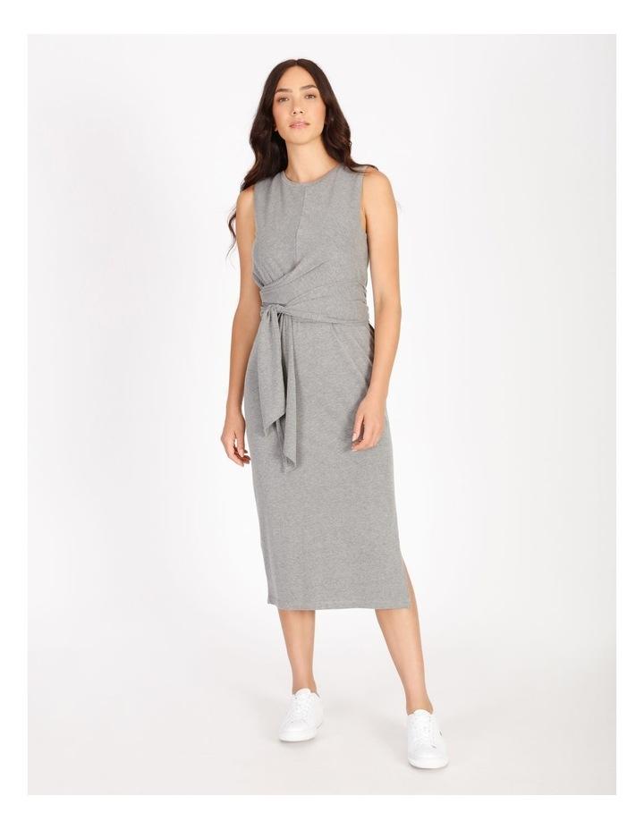 Sleeveless Knit Wrap Dress image 1