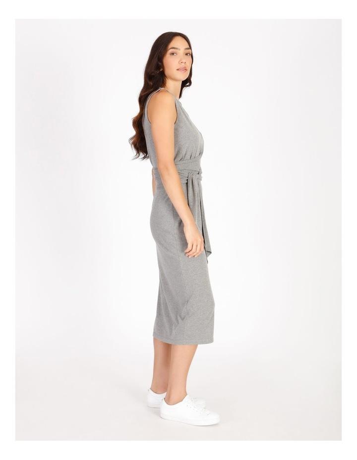 Sleeveless Knit Wrap Dress image 2