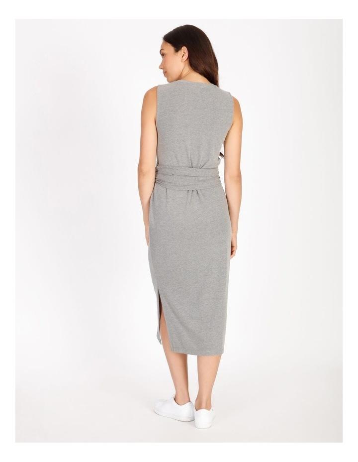 Sleeveless Knit Wrap Dress image 3
