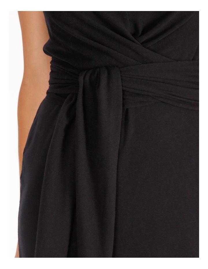 Sleeveless Knit Wrap Dress image 4
