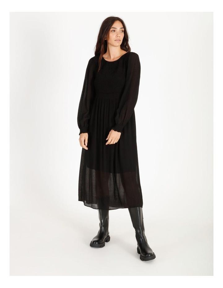 Shirred Midi Dress image 1