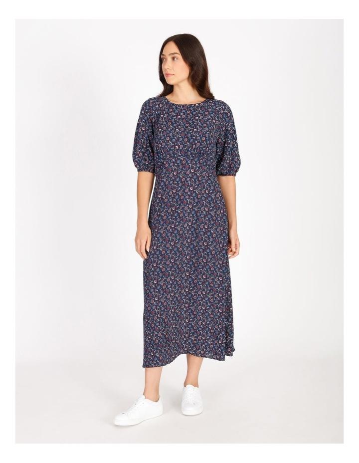 Printed Crepe Midi Dress image 1