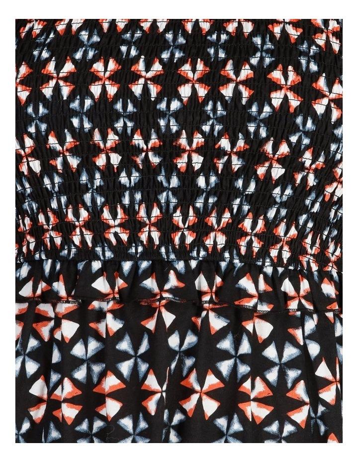 Short-Sleeve Shirred Midi Dress image 5