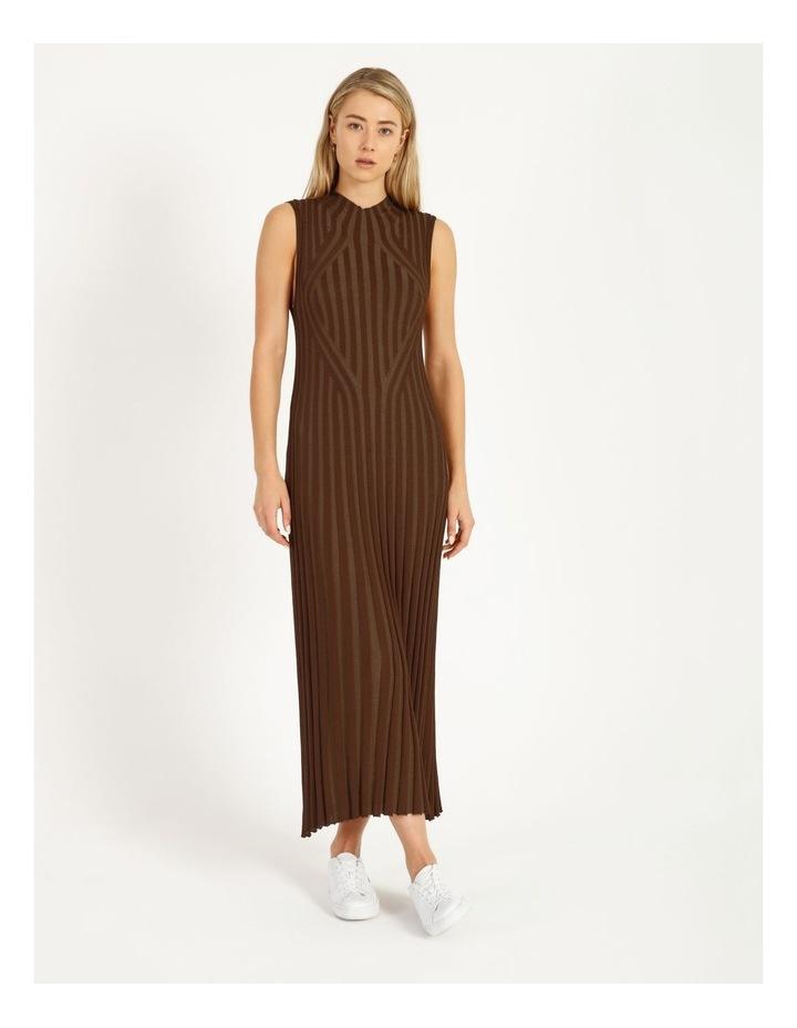 Stripe Knit Midi Dress image 2