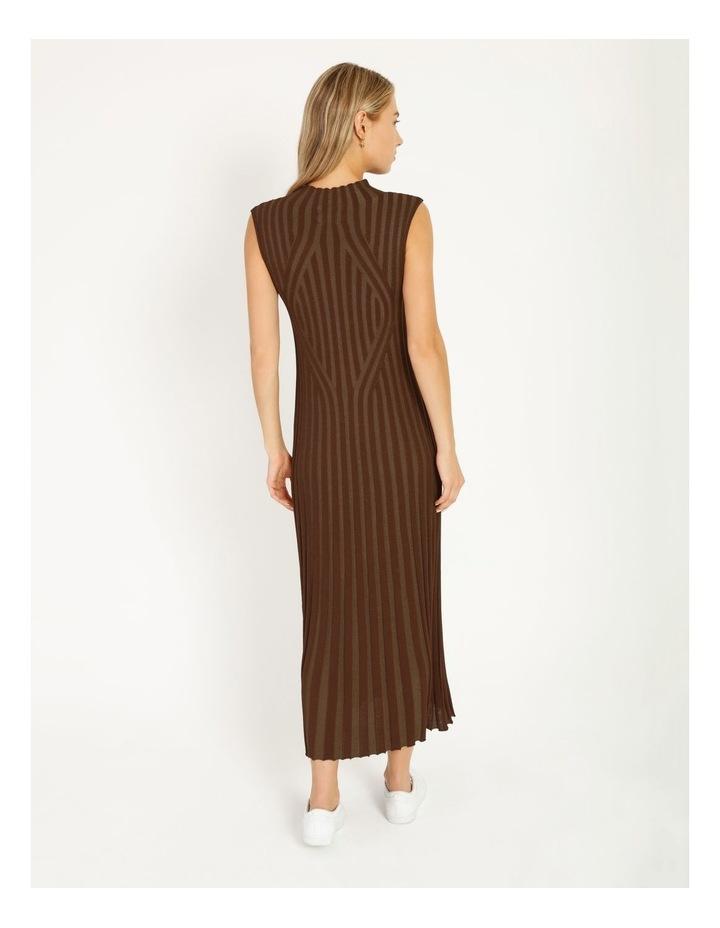 Stripe Knit Midi Dress image 4