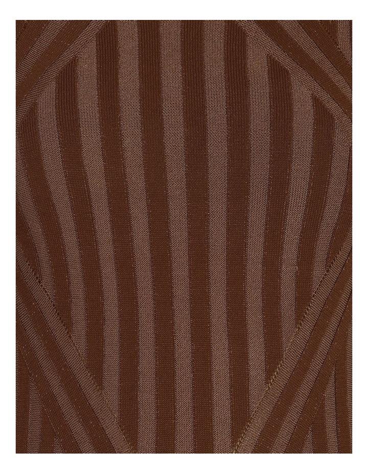 Stripe Knit Midi Dress image 6